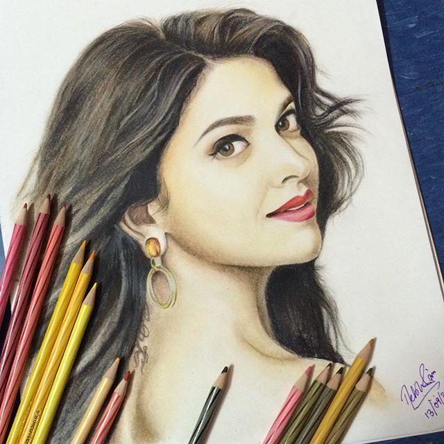 Deepikapadukone Color Pencil Drawing Beautiful Sketches Unique Drawings