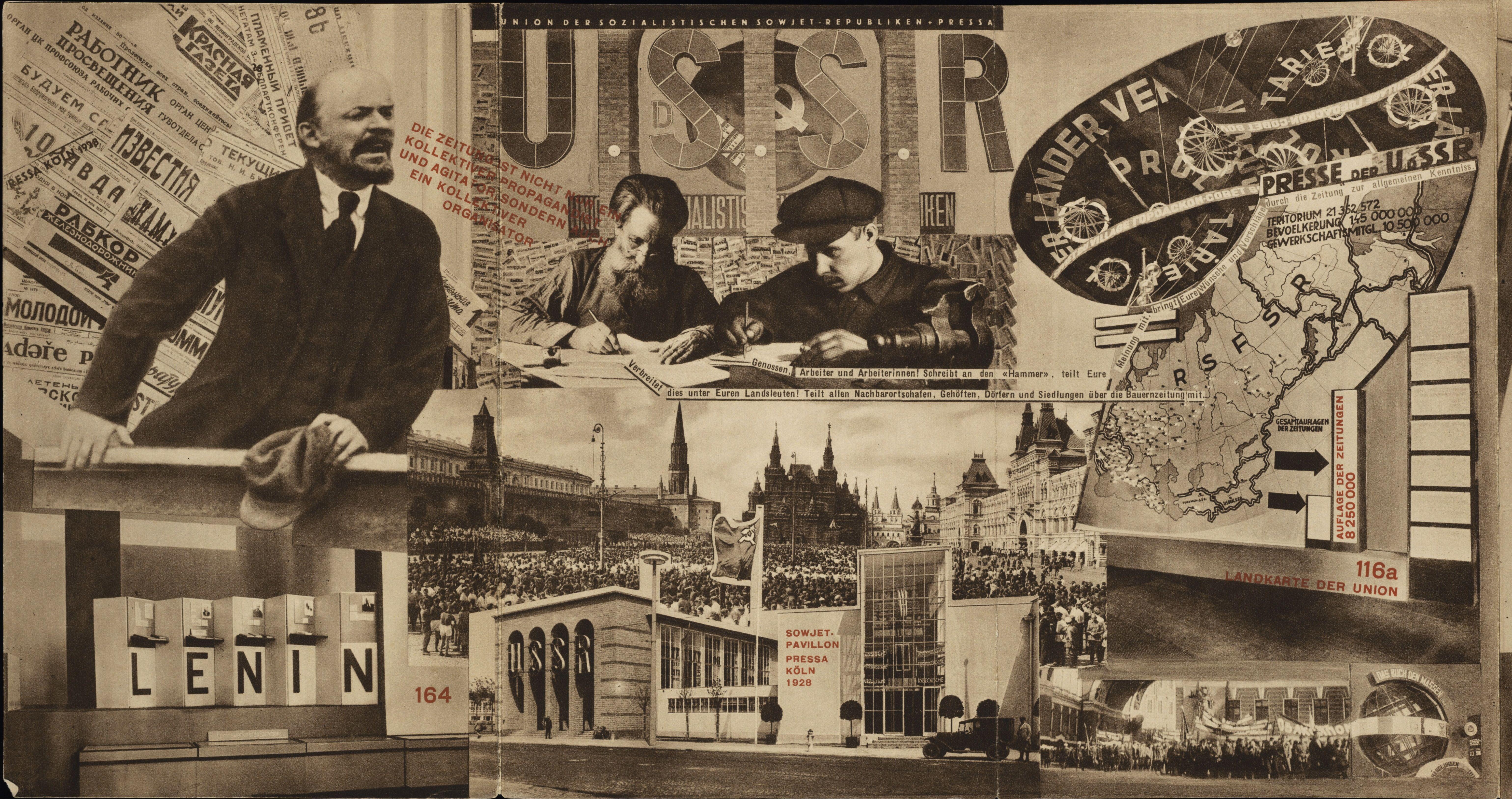 Catalogue of the soviet pavilion at pressa the international press