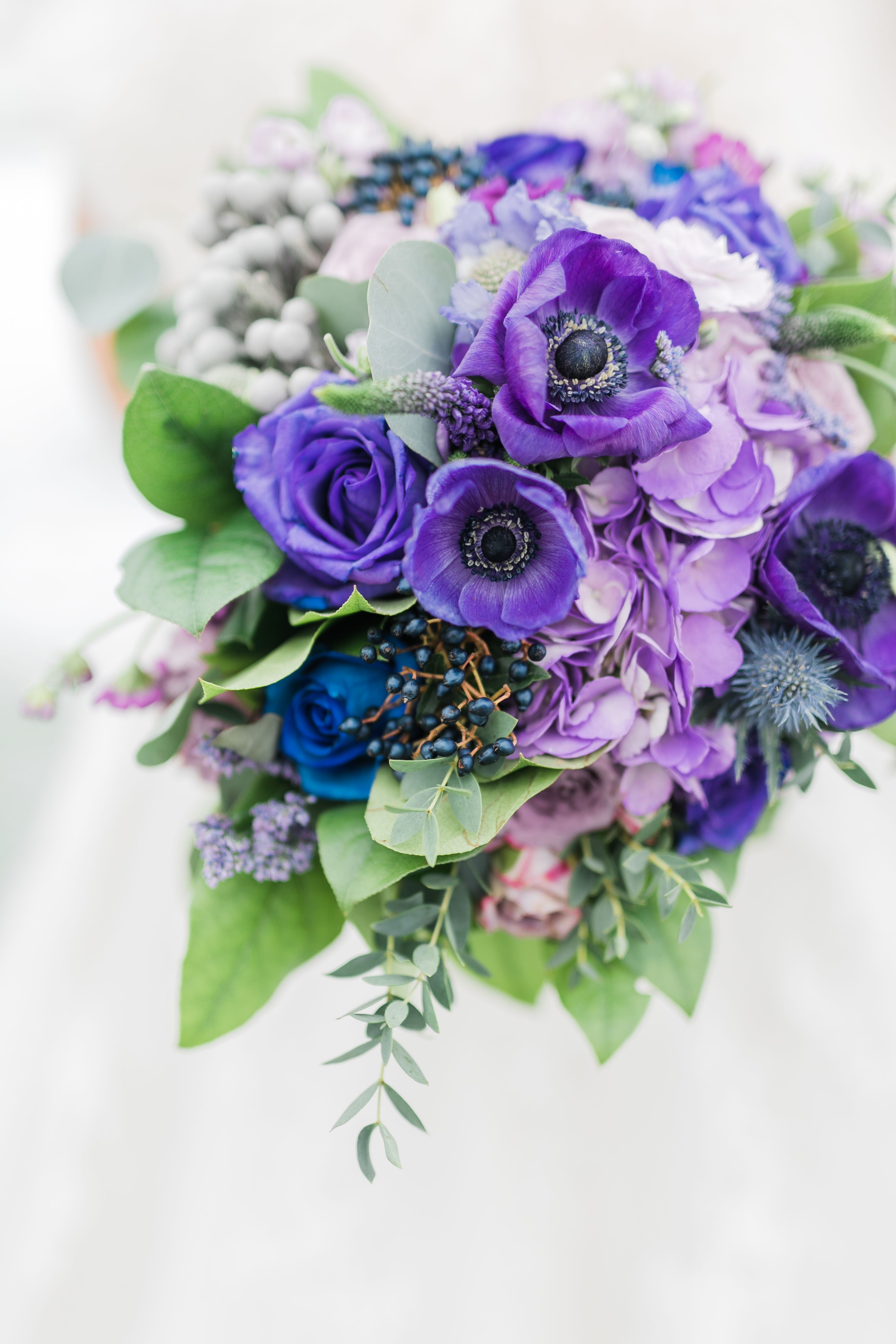 Lavender Purple  Navy Blue Wedding Inspiration