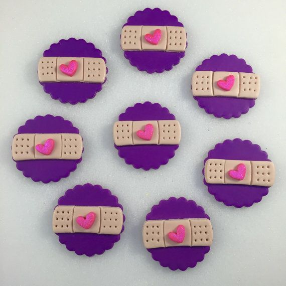Doc McStuffins BANDAID inspired toppers, Fondant Doc McStuffins, Doc McStuffins…