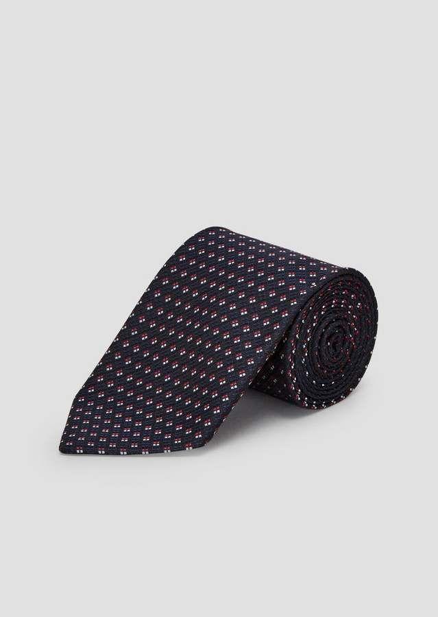 da0c317bad3b Emporio Armani Pure Silk Tie With Jacquard Motif in 2019   Products ...