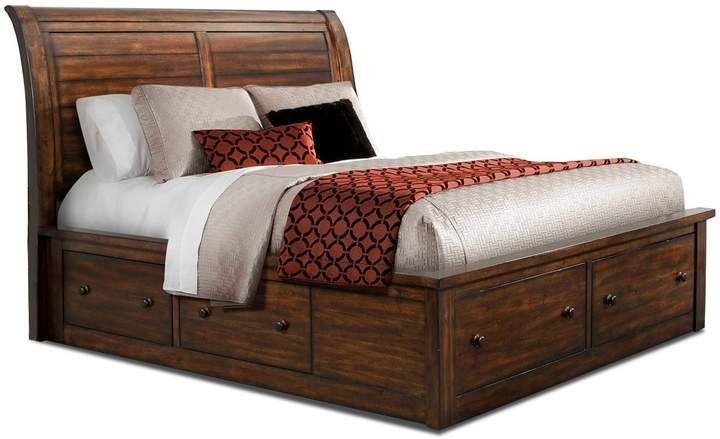 Arthur storage bed chestnut king storage bed rustic