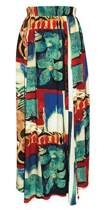 4-Panel Maxi Skirt - Merlot - W894 MERT