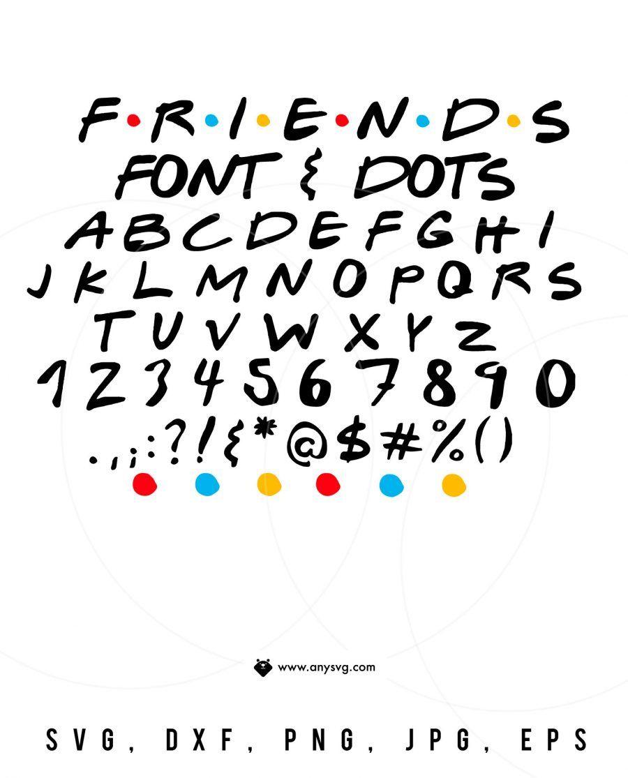 25++ Friends font for cricut trends