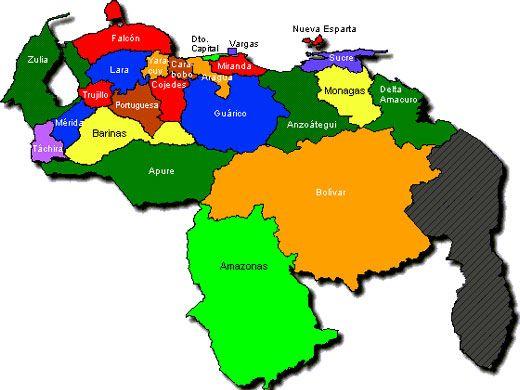 Mapa De Venezuela Y Su Division Presentaciones De Nuestro Planeta Globos Mapas Asi Como Las Esferas De Cristal Son Excel Mapa De Venezuela Venezuela Mapas