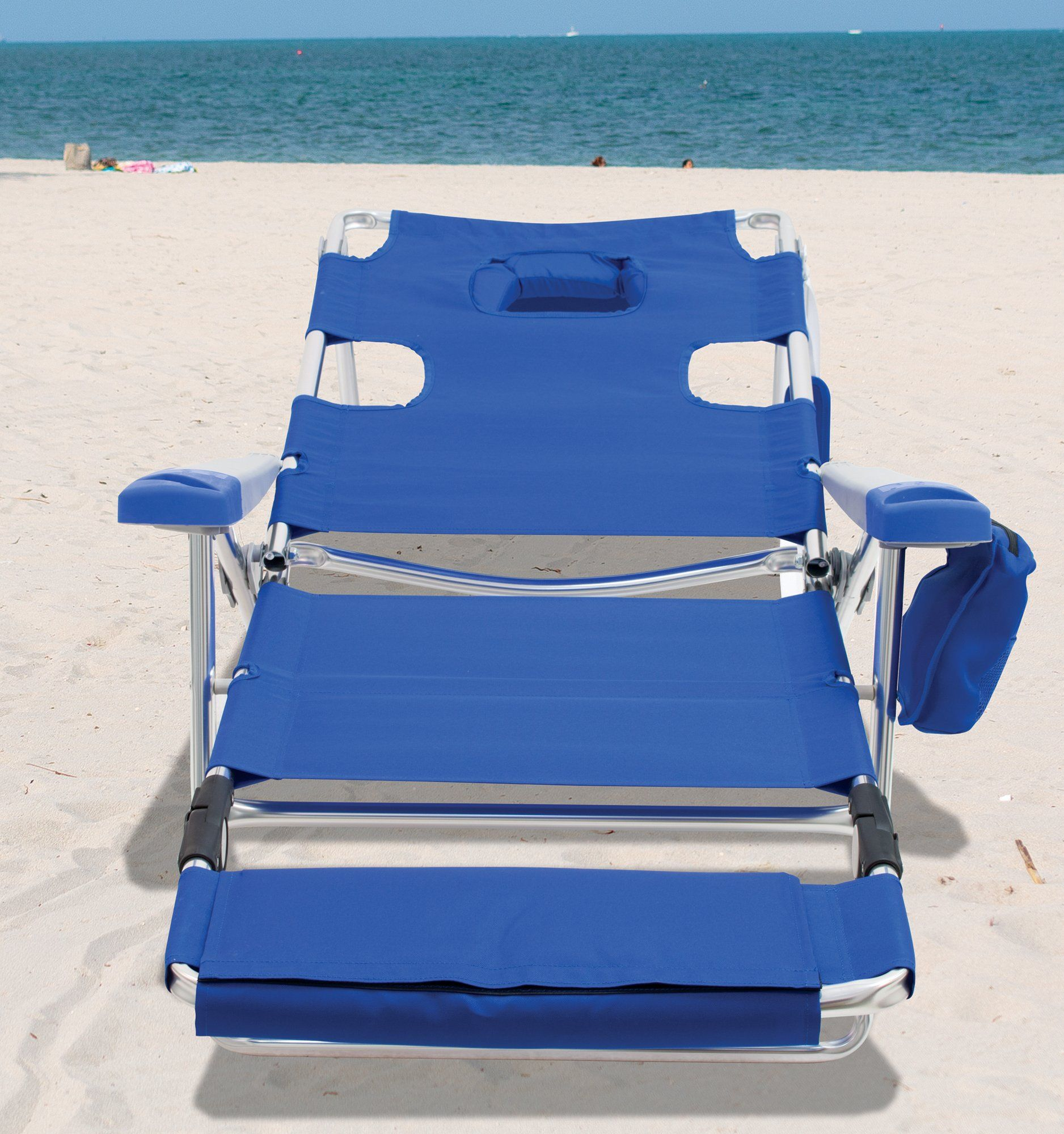Opening Sunbed High Seat Beach Chair