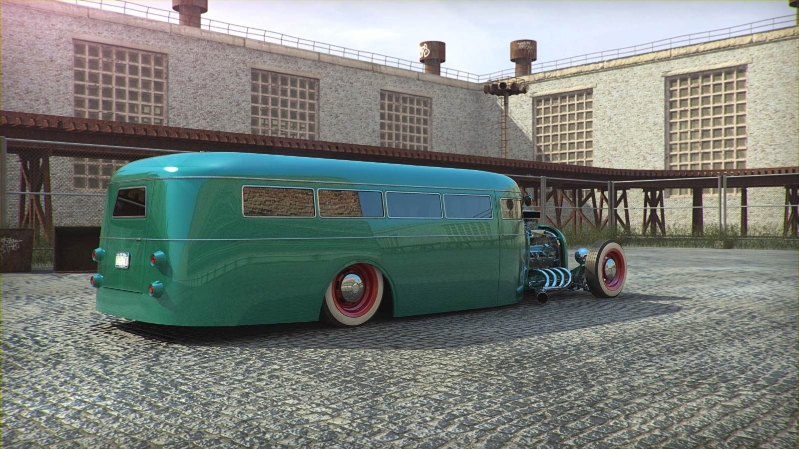 Just a car guy : CGI hot rod school bus but not real, not yet ...