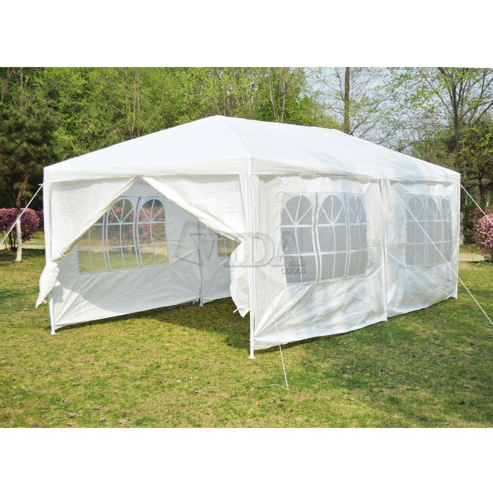 10 x 20' Waterproof White Gazebo Party Tent Wedding Canopy