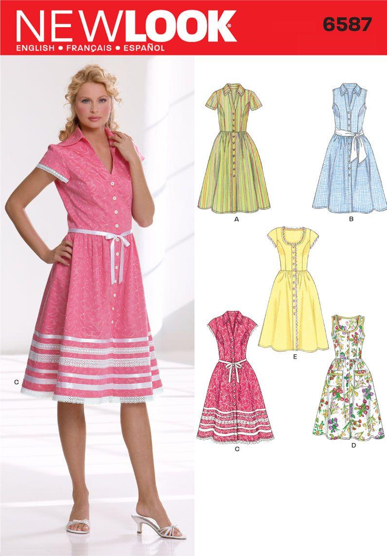 stil mönster klänning