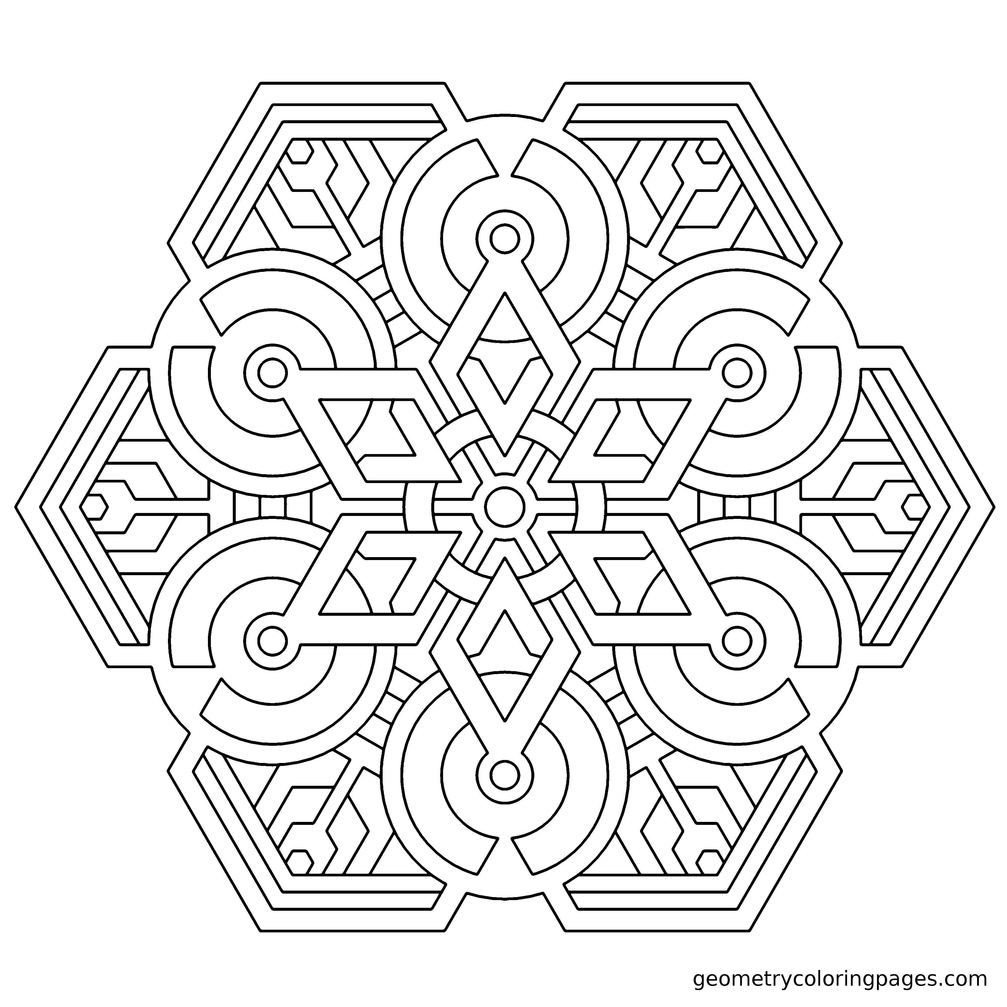 Metatron S Generator Ii Geometrycoloringpages Com Geometric