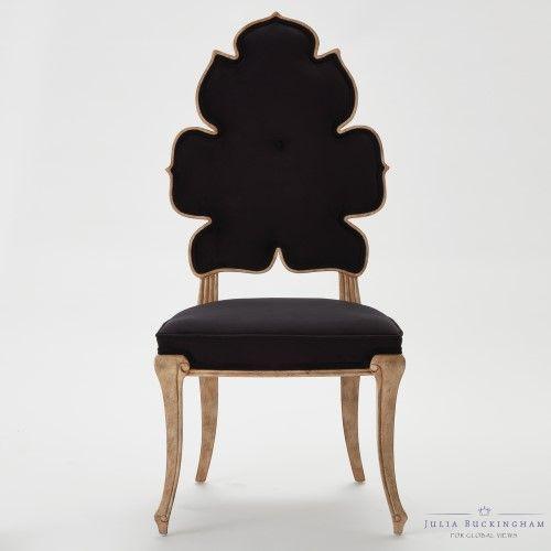 Global views wiggle dining chair black