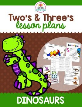 Bring the love of dinos together with a unit of learning fun!Here is a dinosaur unit with your two and three year olds in mind.  Dinos are fascinating!  Why not take that love and pair it with learning?  Now it is easy, your plans are done for you!Features 5 fun and engaging dinosaur songs Whole group activities for 1 week (including: dino words, size of a trex foot, movement cards, sort dino eaters and dino counting) Small group activities for 1 week (including: dino tangrams, dino stomp…