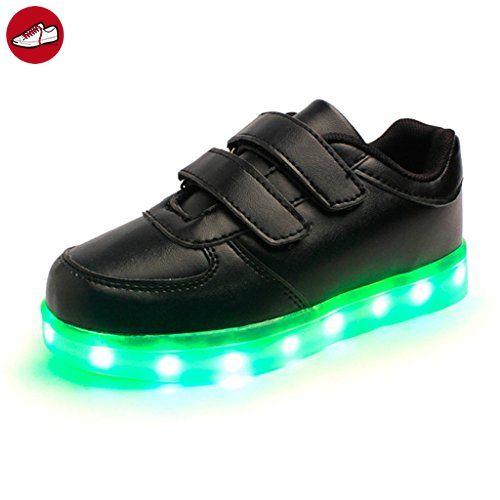 (Present:kleines Handtuch)Schwarz EU 26, Schuhe Luminous Unisex Klettverschluss JUNGLEST® leuchten L