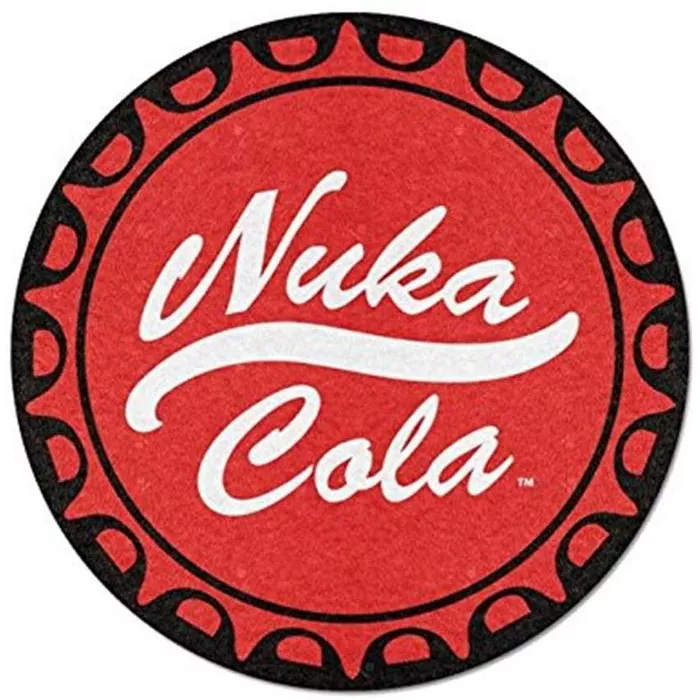 Just Funky Fallout Nuka Cola 48 Inch Round Fleece Throw Blanket Fleece Throw Blanket Fleece Throw Throw Blanket