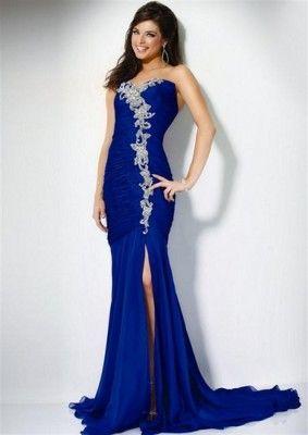ada355aee vestido color azul rey modernos