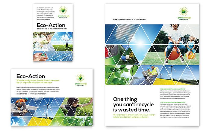 Green Energy Consultant Flyer and Ad Template Design by StockLayouts ...