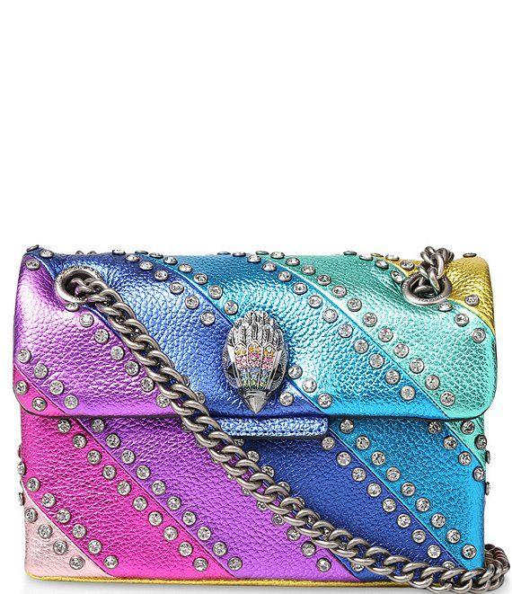 Kurt Geiger London Kensington Crystal Rainbow Stripe Mini Shoulder Bag | Dillard's