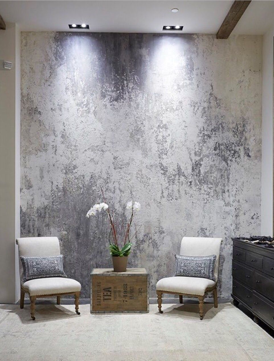Bespoke feature wall finishes italian polished plaster for How to paint faux marble wall