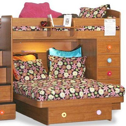Brown Flower Bunk Bed Hugger Lolli Fitted Comforter Bunk Beds Bed Bunk Room