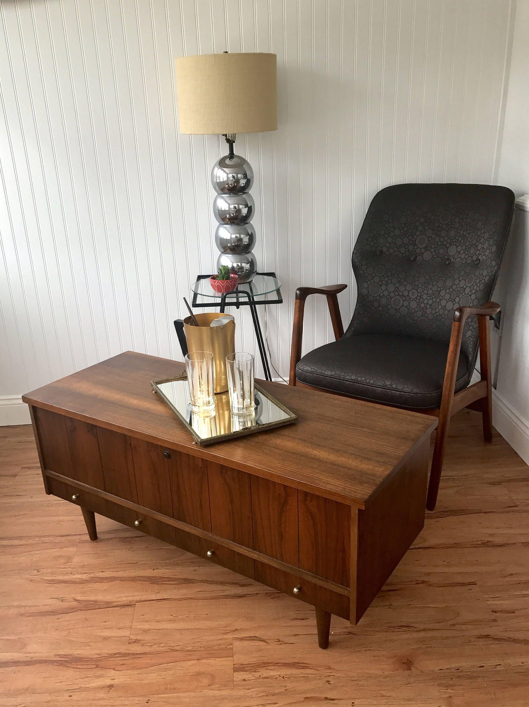 mid century coffee table bench, lane cedar chest, danish modern