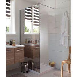 Paroi De Douche Verre De Securite Miroir 120 Cm Walk In Free Paroi De Douche Idee Salle De Bain Et Douche