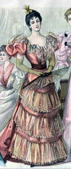 Victorian Vintage: 1890 Detalles de vestir