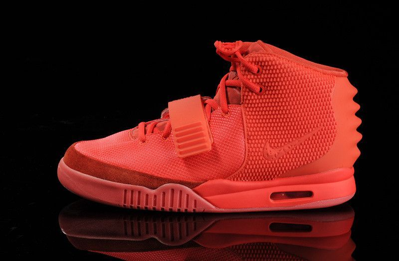 Men's Nike Air Yeezy 2 Red October Basketball Shoes