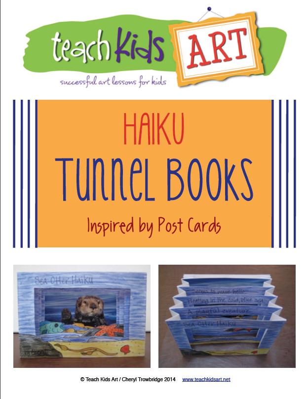 Haiku Tunnel Books pdf (TeachKidsArt) | For school | Tunnel book