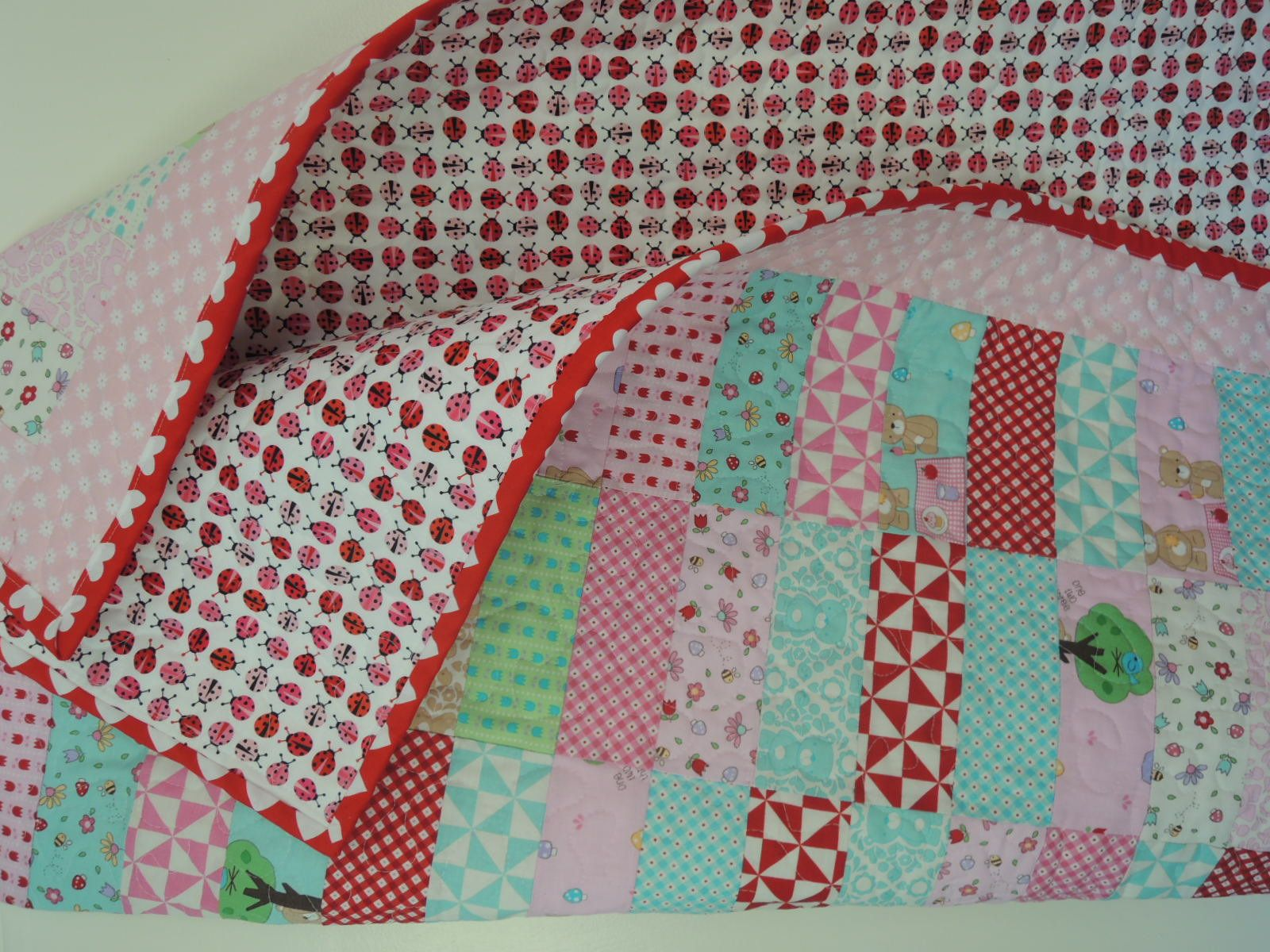 Easy to Make Jelly Roll Rag Quilt 2  Pattern Tutorial pdf