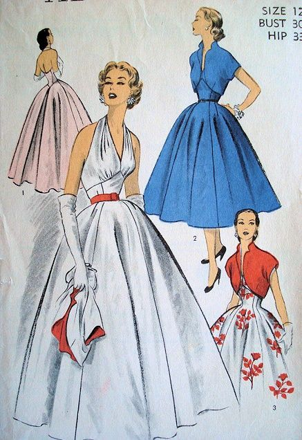1950s Halter Evening Dresses