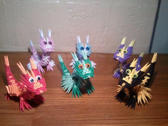 Etsy 3d Origami Baby Dragon By 3DOrigamiArtStudio