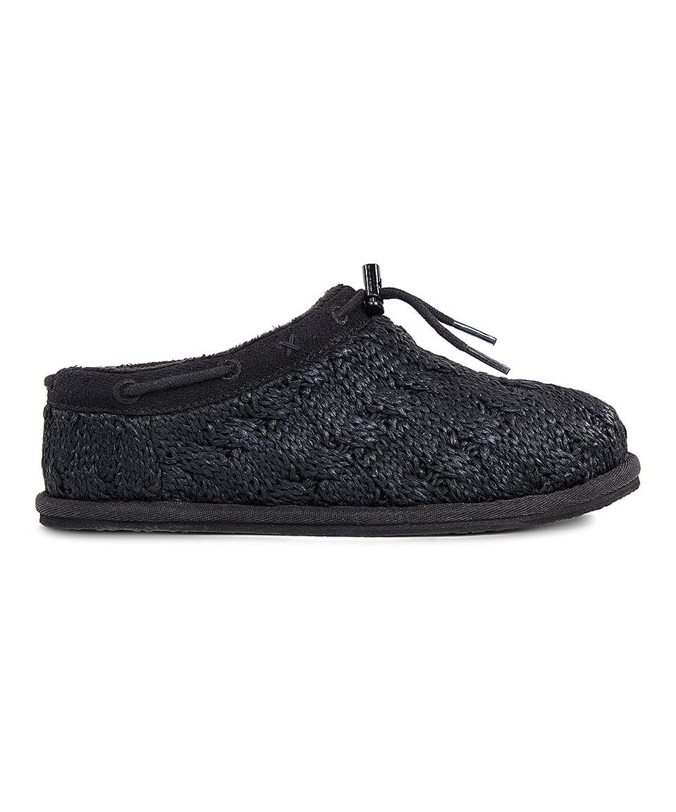 0d8382a0675 Take a look at this UGG® Black Freesia Cable-Knit Slipper - Kids today