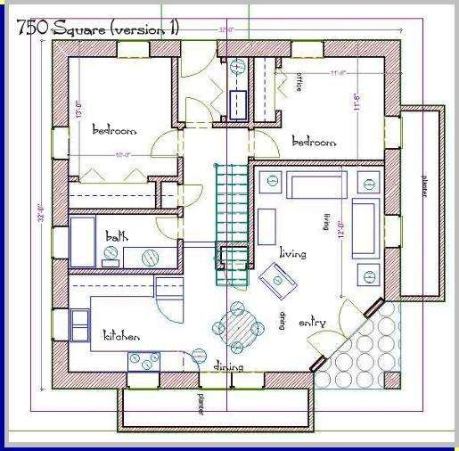 Straw Bale House Plan 750 Sq Ft House Plans Small House Plans Round House Plans