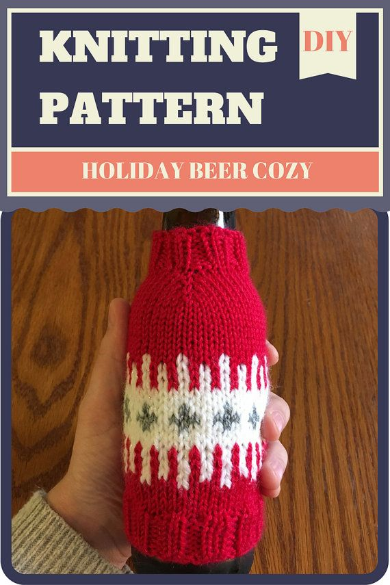 Knitting Pattern: Holiday Beer Cozy Sleeve by StyleThriveHandmade ...