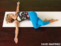 turn up the torque revolved triangle  yin yoga yoga