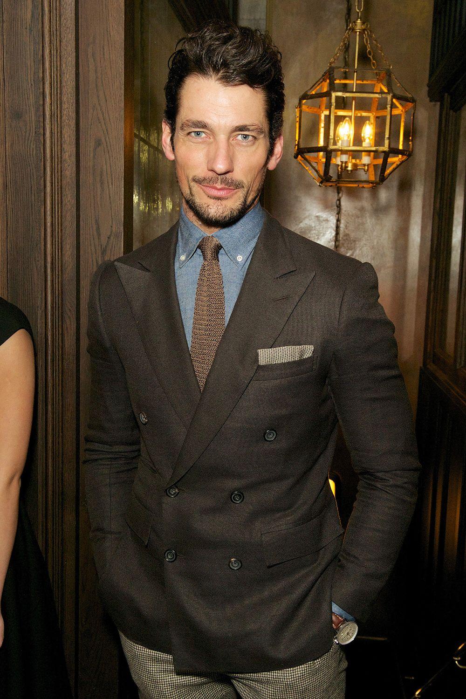36de7da6 David Gandy brown double breasted blazer | Inspiration. | David ...
