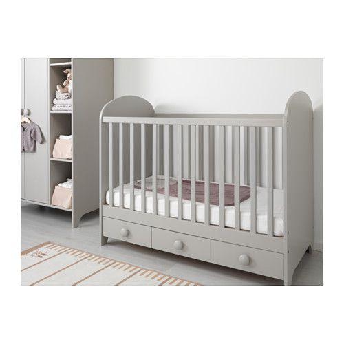 gonatt lit b b gris clair petits lits pinterest lit b b ikea lit bebe gris et lit bebe. Black Bedroom Furniture Sets. Home Design Ideas