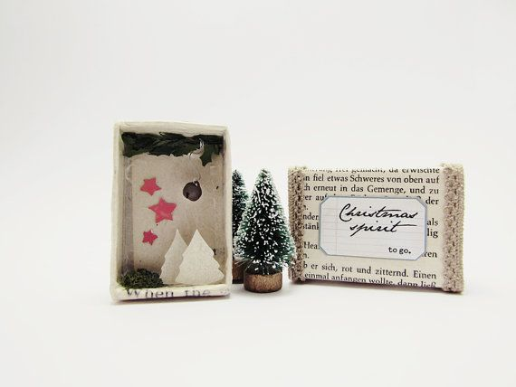 Handmade shadow box frame -Christmas spirit to go No2- Joy in a ...