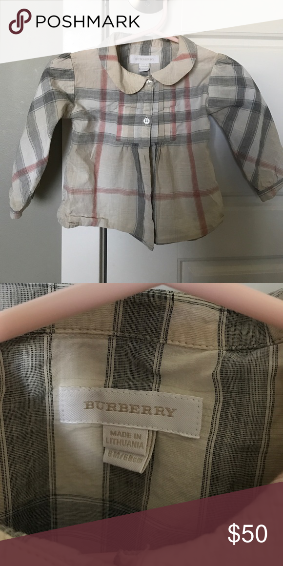 a737a8562 Burberry baby girls shirt Good condition! Burberry Shirts & Tops Button  Down Shirts