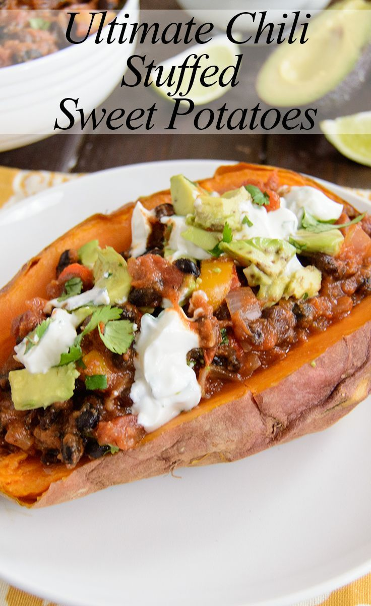 Ultimate chili stuffed sweet potatoes this is super healthy and ultimate chili stuffed sweet potatoes this is super healthy and easy you will never forumfinder Images