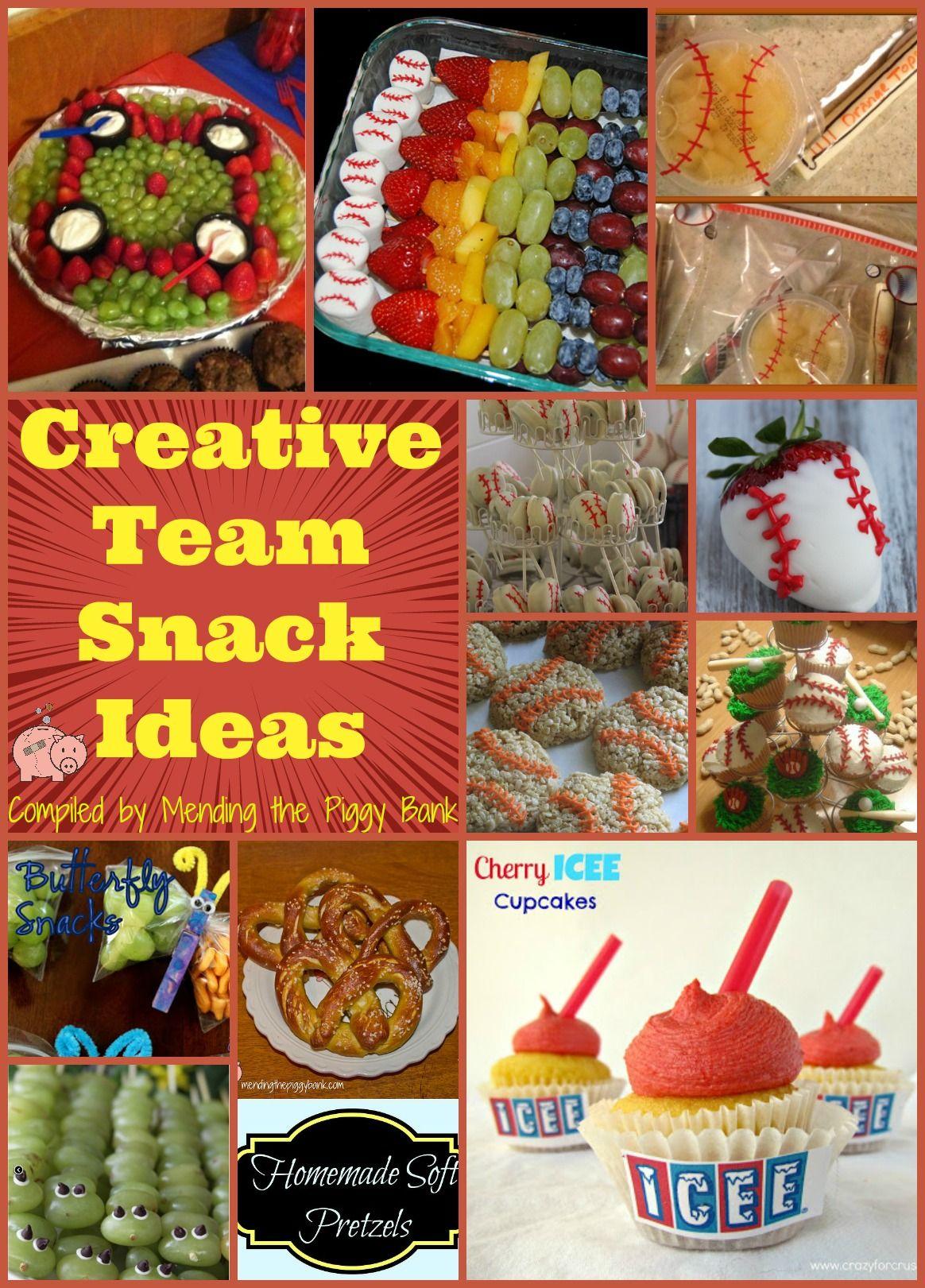 creative team snack ideas tball snacks pinterest team snacks