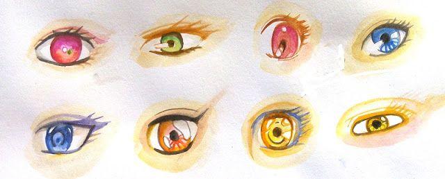 Cara Mewarnai Mata Manga Dengan Watercolor Mata Manga Sketsa
