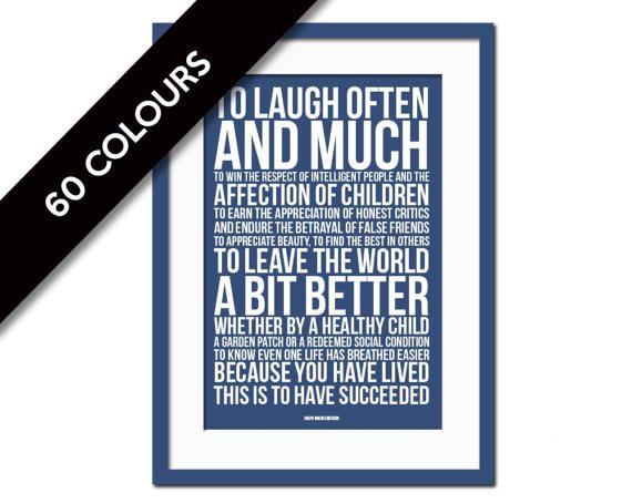 Ralph Waldo Emerson Quote Art Print To Laugh Often Graduation