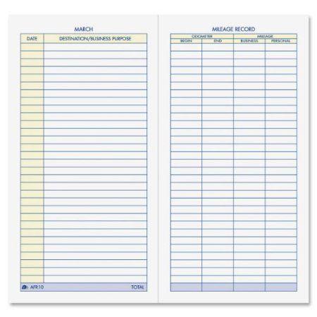 adams vehicle mileage log 64 sheet s 6 25 x 3 25 sheet size