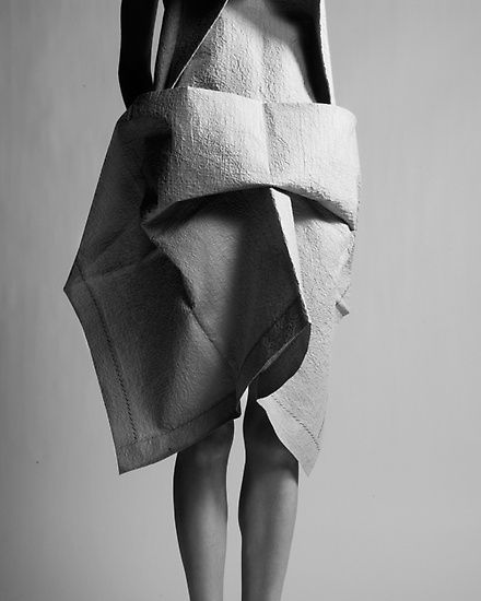origami dress, photograph by Yiorgos Mavropoulos