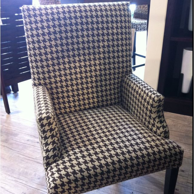 Houndstooth Dining Chair In Brown And Cream I O Metro