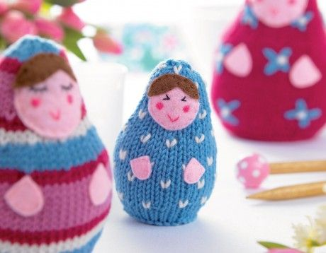 Amigurumi Russian Doll Pattern : Russian dolls free pattern knit knitting patterns