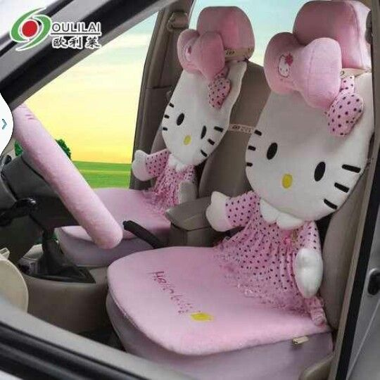 Groovy Plush Car Seat Covers Hello Kitty Hello Kitty Collection Bralicious Painted Fabric Chair Ideas Braliciousco