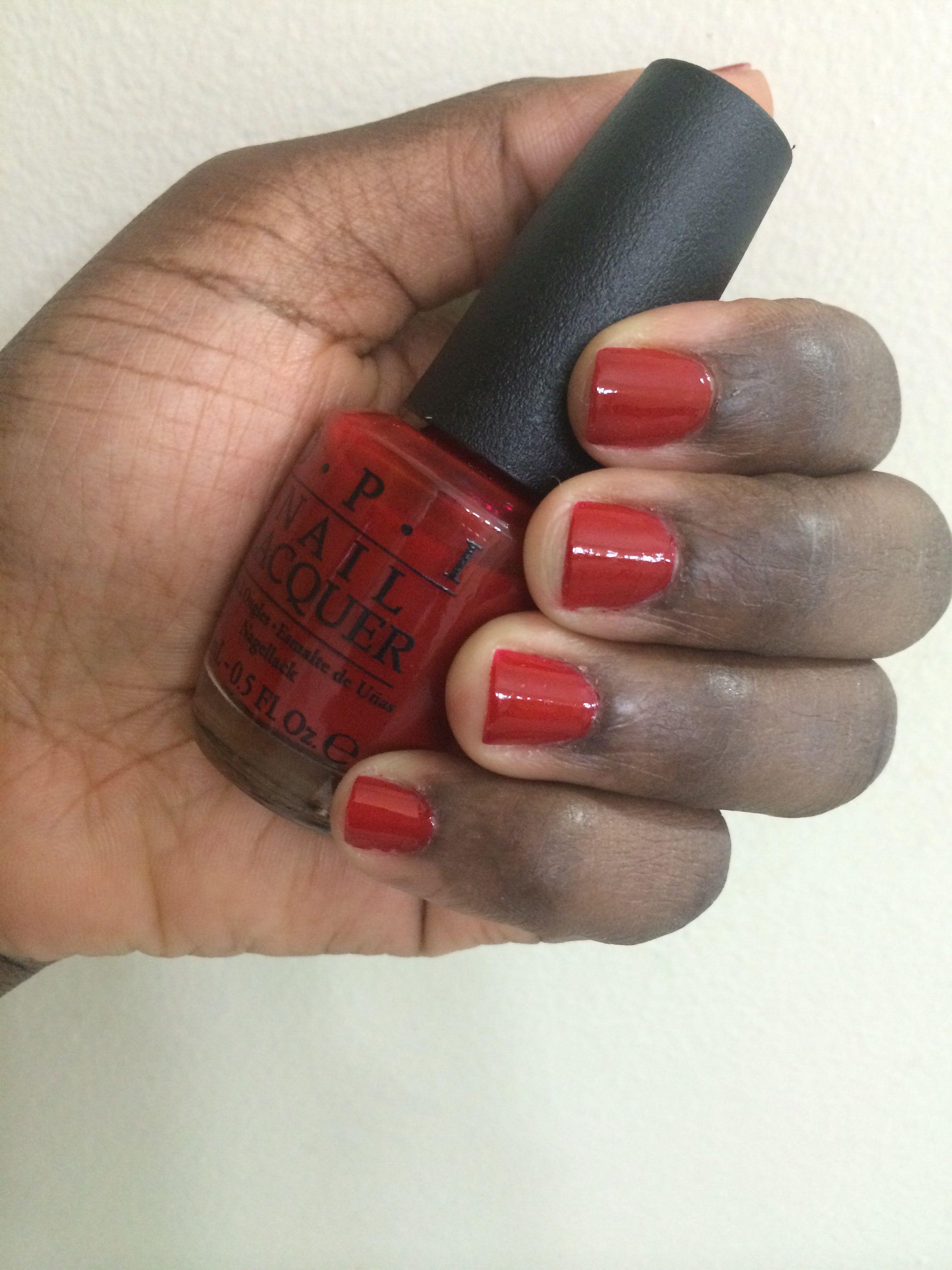 """OPI """" Red Hot Rio """" 💅 Nail polish, Nails, Opi red"""