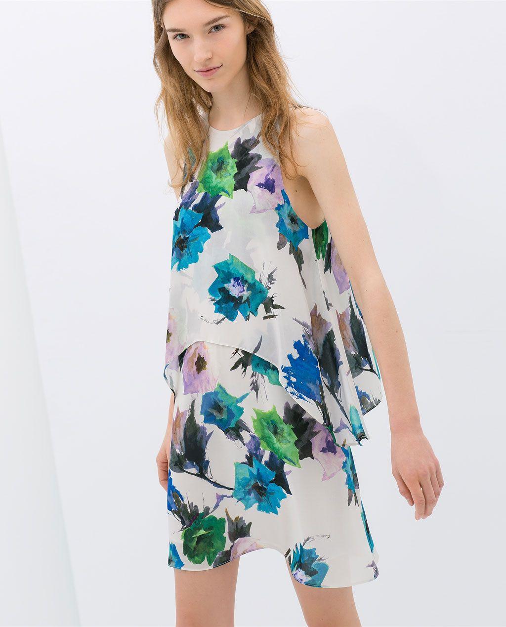 Layered printed dress from zara style me pretty pinterest